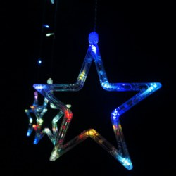 12 LEDs Star Shape String Light Holiday Party Wedding Decoration Lamp