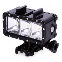 2.8W 300LM Flash LED Diving Light Waterproof Video Lamp