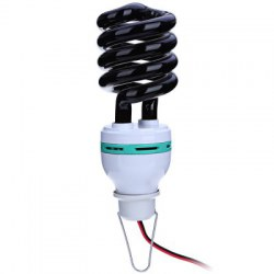 1.5M DC12V 36W Charger Lead Spiral Energy Saving Black Light Lamp with UV Traps Insects