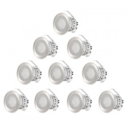 0.6W 12V 50LM 10pcs Multifunctional 3000K Recessed LED Light Spotlight Flashlight