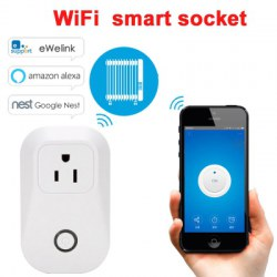 Smart WiFi Wireless Socket 10A 2200W Power Supply US Plug for IOS / Android Phone Remote Control
