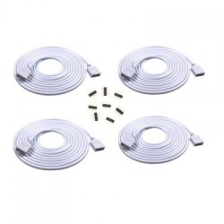 SUPli 2.5M Extension Cable Connector Cord Wire for SMD 5050 3528 RGB LED Light Strip 4PCS