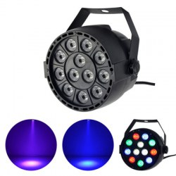 12PCS RGB Leds LED Par Stage Lighting Disco DJ Club Effect Wedding Show DMX Strobe Light Lamp