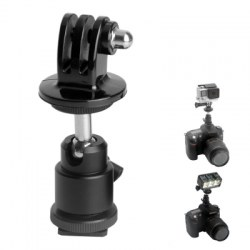 Fat Cat DSLR Ball Head Hot Shoe Adapter Mount for GoPro
