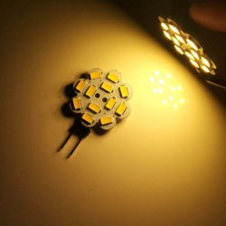 10PCS G4 3.5W LED Bi-Pin Lights 12LEDS SMD 5730 300-350LM DC12V Decorative Lamp