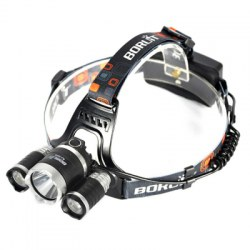 3 LED T6 White light + 2R2 Red bright headlamp