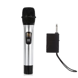 AQTA AT - 301S UHF Wireless Microphone Handheld Mic with Receiver for Recording Karaoke Speech Meeting