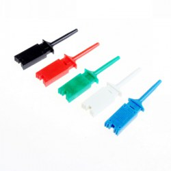 10 PCS Plastic Flat Multimeter Test Hook Clip Probes for PCB IC