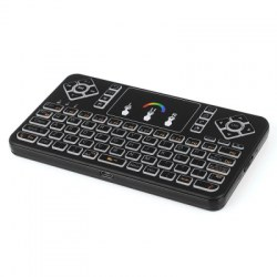 2.4G wireless touch keyboard Q9 bright Colorful backlight Multi-touch