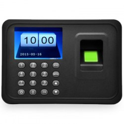 A6 2.4 inch TFT Biometric Fingerprint Time Attendance Clock Employee Payroll Recorder Support USB Download