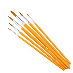 ZHUTING 6pcs Nylon Wool Drawing Brush Pen Painting Nail Art Tool