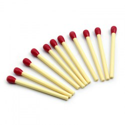 20pcs Matchstick Ballpoint Pen School Supplies Stationery Kids Gift