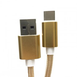 1M Nylon Braided USB 2.0 Type-C Charge and Sync Cable