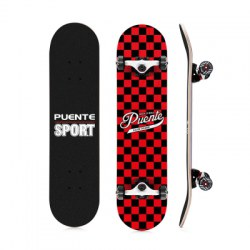 PUENTE 602 ABEC - 9 Four-wheel Double Snubby Maple Skateboard for Entertainment