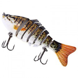 10cm Fishing Lure Artificial Hard Bait 7 Jointed Sections Swimbait