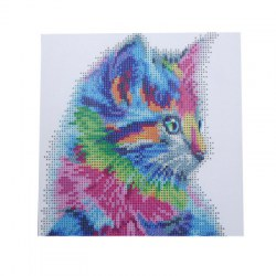 30 x 30cm Colorful Cat Pattern DIY Diamond Painting Kit