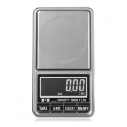 1000 x 0.1g Mini Rechargeable Digital Pocket Weighing Scale with Back-lit LCD Display for Jewelry Coins Gemstones Medicine
