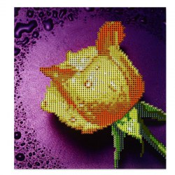 28 x 30cm 5D Dripping Rose Full Drilled Needlework DIY Diamond Painting Cross Stitch Tool