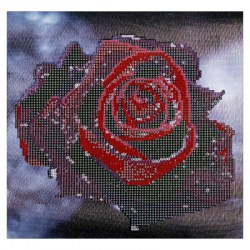 30 x 30cm Drip Red Rose DIY Diamond Painting Cross Stitch Tool