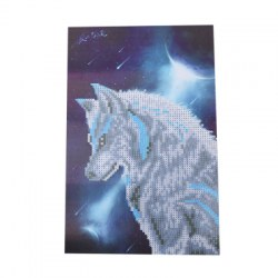 20 x 35cm Wolf Pattern DIY Diamond Painting Kit