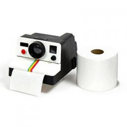 1 Piece Creative Retro Polaroid Camera Shape Inspired Tissue Boxes Toilet Roll Paper Holder Bathroom Decor