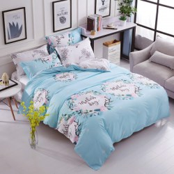 3pcs Printed Quilt Cover Bed Sheet Pillowcase