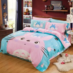 Autumn Cute Cat Pattern Bedding Article 4PCS