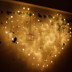 1.5 x 2.0 Cm Led Love Curtain Lamp Ice House Decoration String Lights