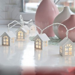 1.5M 10 Decorative String Lamp House Shaped Bedroom Night LED Light