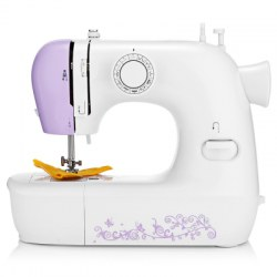 1803 Household Mini Automatic Thread Sewing Machine Double Speed Control Button with 12 Different Stitches