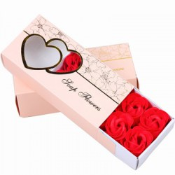 10 Pcs Soap Flowers Sweet Romantic Artificial Roses Box Packing Valentine's Day Gift