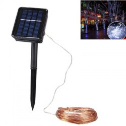 1PC 20M Solar Copper Wire String Light 8MODES LED Fairy String Waterproof Home Yard Christmas Holiday Gareden Decoration