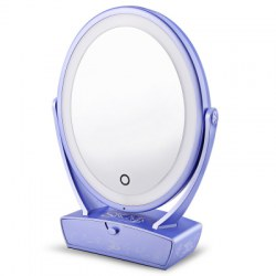 SKM Oval Shaped LED Makeup Mirror 5X Magnification with Drawer