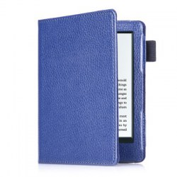 558 PU Litchi Magnetic Flip Protective Case for Kindle