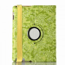 360 Degree Rotating Protective Cover Grape Pattern Painted Pu Tablet Case for Ipad 2 / 3 / 4