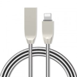 1 M Zinc Alloy 8 Pin Fast Data Charging Cable for Apple Devices