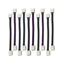 KWB LED SMD5050 RGB Strip Light Connector 4 - pin Conductor 10MM Jumper 10PCS