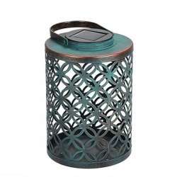 1PC Solar Lantern Metal Waterproof LED Hanging Lights for Outdoor Courtyard