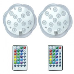 12LED Remote Dive Lights Colorful Plum 2pcs