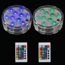 10LED Remote Control Color Dive Lights Bars Holiday Decoration 2pcs
