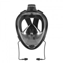 180 Degree Wide View Full Face Snorkel Mask Anti-fog Anti-leak Size L/XL Black