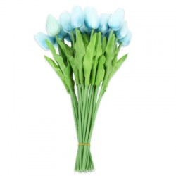 20pcs Artificial PU Tulip Flower Bouquet Home Office Party Wedding Decoration