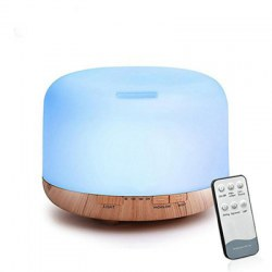 02249YK Remote Control Essential Oil Diffuser Ultrasonic Aroma Cool Mist Humidifier with 7 Color Light Changing 4 Timer Settings (......
