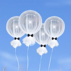 18 inch 4pcs Tulle Bubble Balloons for Birthday Wedding Party Valentine's Day Decoration