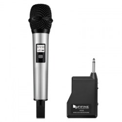 FIFINE K035 Wireless Handheld Microphone with Receiver for PC Laptop