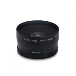 58MM 0.45X HD Wide Angle Macro Camera Lens with Two Cap