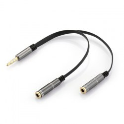 3.5mm Stereo jack Auxiliary Audio Y Splitter Extension Cable