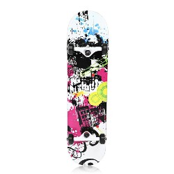 PUENTE Pet - 602 Four-wheel Double Kick Deck Skateboard for Entertainment with T-shape Gadget