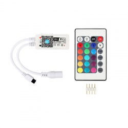 Mini WiFi Controller IR 24Keys Remote for RGB LED Strip Light DC5 - 28V
