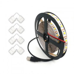 1-3.5M USB 5V 5050 TV Flexible Strip and L Type LED Strip Connector